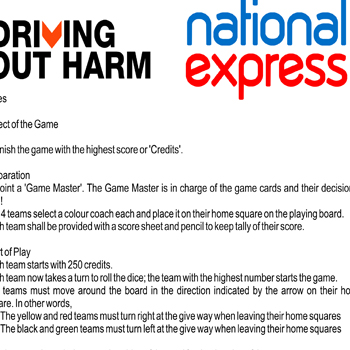 Driving Out Harm Game Rules
