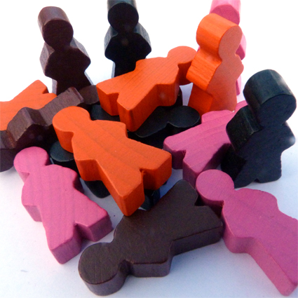 Wooden Playing Figures
